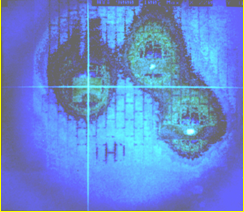 PCB Board IR Image in natural convection air flow